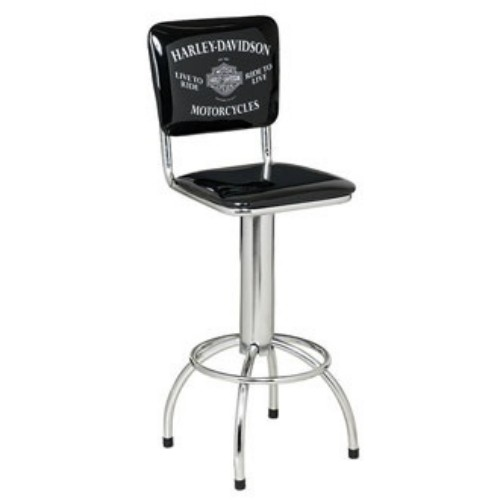 Incredible Harley Davidson Motorcycles Bar Stool W Backrest Hdl 12210 Squirreltailoven Fun Painted Chair Ideas Images Squirreltailovenorg
