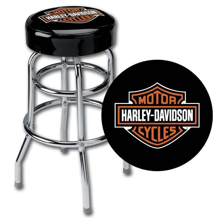 Marvelous Harley Davidson Bar Shield Bar Stool Hdl 12116 Ships Squirreltailoven Fun Painted Chair Ideas Images Squirreltailovenorg