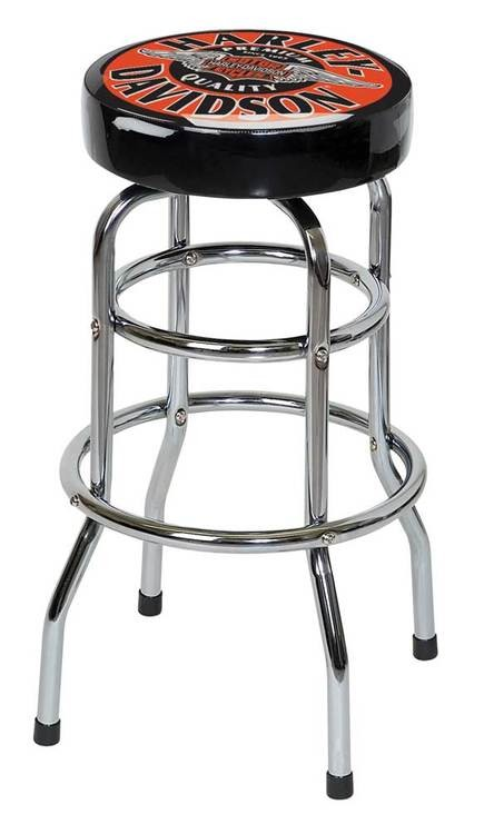 Harley-Davidson WINGED B&S BAR STOOL HDL-12135
